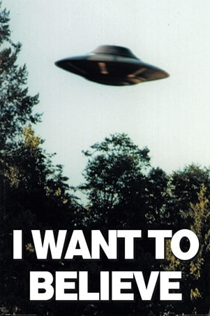 I want to believe in UFOs