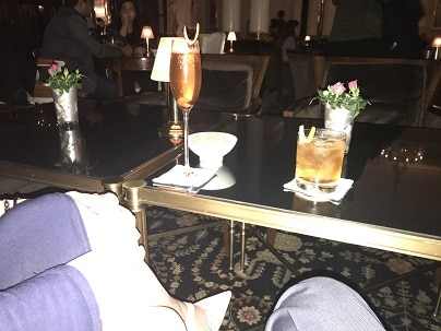 Champagne cocktails at Savoy Beaufort bar