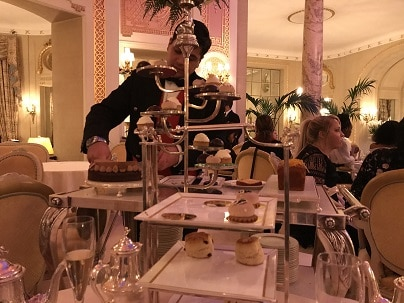 Palm Court tea at the Ritz